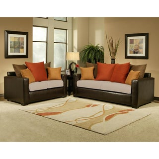 Allure Khaki Sofa and Loveseat Set