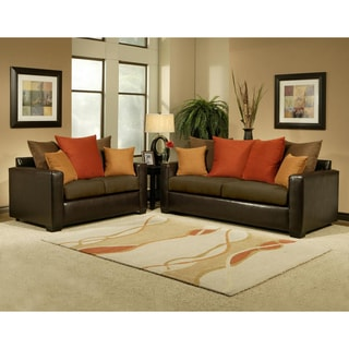 Allure Chocolate  2-piece Sofa and Loveseat Set