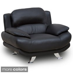 Alice Bonded Leather Black Chair