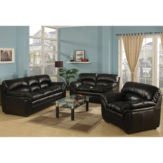 Joyce Black 3-Piece Living Room Set