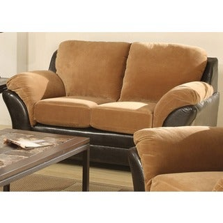 Mia Padded Suede Loveseat