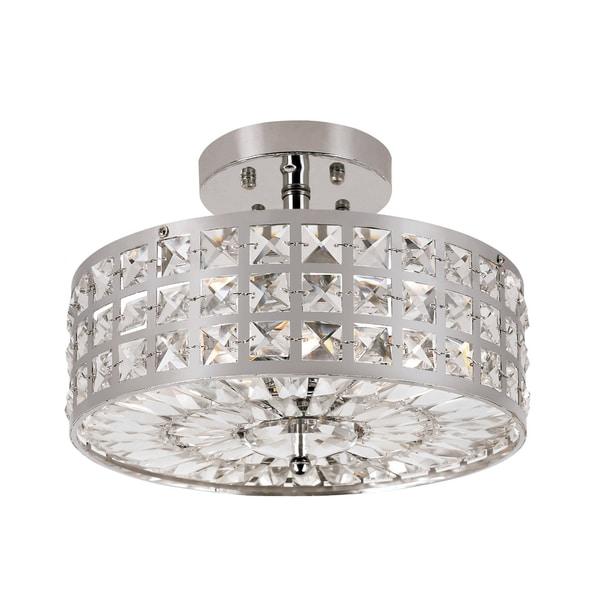 Trans Globe Lighting 4-light Chrome Crystal Wheel Light