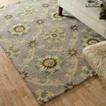 Hand-hooked Tessa Light Grey Wool Rug (5' x 7'6)