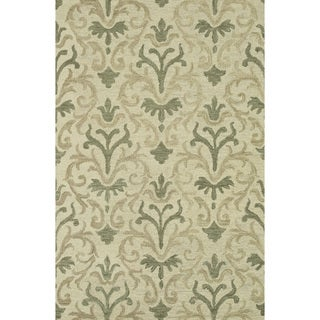 Hand-hooked Tessa Neutral Wool Rug (5' x 7'6)