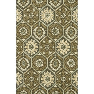 Hand-hooked Tessa Brown Wool Rug (7'10 x 11')