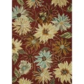 "Hand-Tufted Leighton Red Wool Area Rug (5' x 7'6"")"