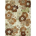 Hand Tufted Leighton Ivory Wool Rug (5'0 x 7'6)
