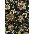 Hand Tufted Leighton Black Wool Rug (7'6 x 9'6)