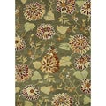 Hand Tufted Leighton Green Wool Rug (7'6 x 9'6)