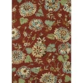 Hand Tufted Leighton Rust Wool Rug (7'6 x 9'6)