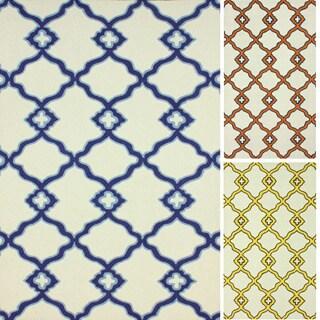 nuLOOM Handmade Moroccan Trellis Contemporary Wool Rug (7'6 x 9'6)