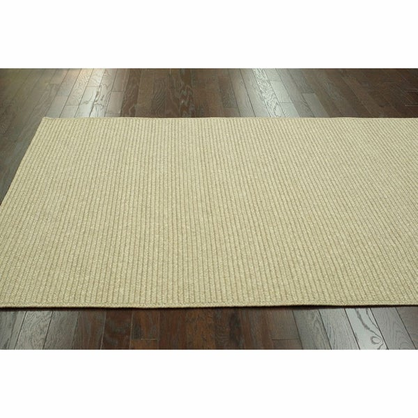 nuLOOM Handmade Indoor / Outdoor Braided Natural Rug (7'6 x 9'6)