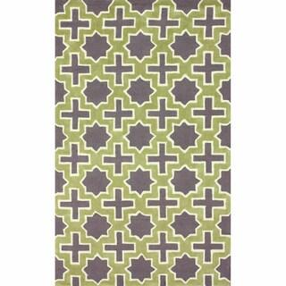 nuLOOM Handmade Indoor / Outdoor Marrakesh Trellis Green Rug (5' x 8')