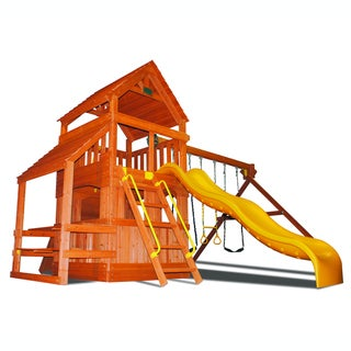 KidWise Superior Play Systems Original Fort Hangout Wooden Swing Set