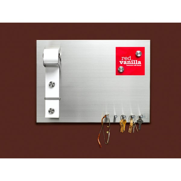 Red Vanilla Stainless Steel Magnetic Memo Board