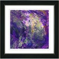 Studio Works Modern 'Rushing Poem - Grape Purple' Framed Print