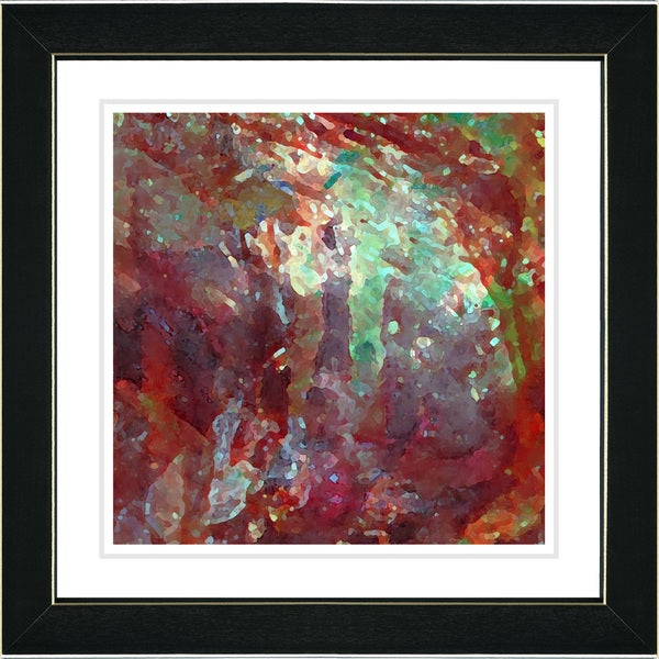 Studio Works Modern 'Rushing Poem - Cherry Red' Framed Print
