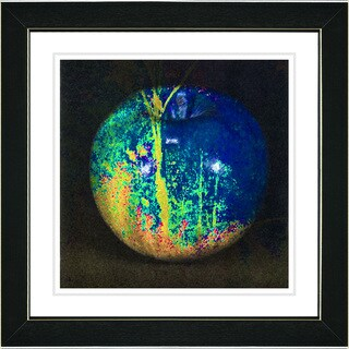 Studio Works Modern 'Magic Apple - Blue' Framed Print