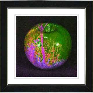 Studio Works Modern 'Magic Apple - Pink' Framed Print