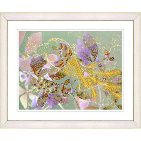 Studio Works Modern 'Rococco Peacock - Violet' Framed Print