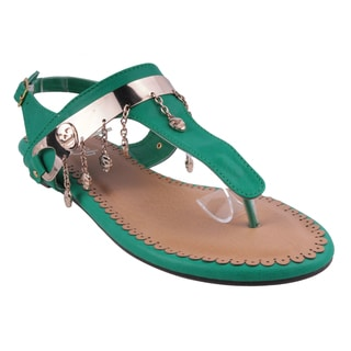 Refresh by Beston Women's 'JETTA-10' Flat Triangle Thong Sandals