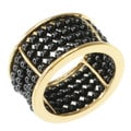 Michael Valitutti Gold over Silver Black Spinel Ring