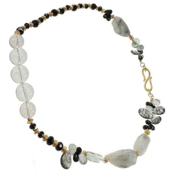 Michael Valitutti Gold over Silver Multi-gemstone Necklace 11108549