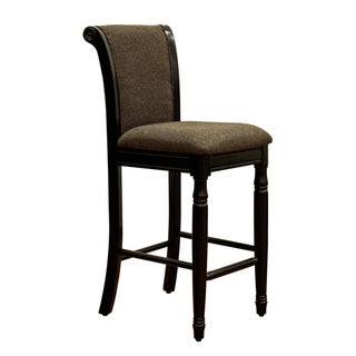 French Roast Chenille Fabric Upholstered Barstool