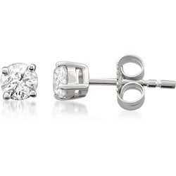 14k White Gold 3/8 to 3/4ct TDW Certified Diamond Stud Earrings (I-J, I1-I2)