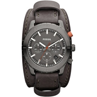 Fossil Men's 'Keaton' Grey Leather Strap Watch