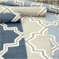 nuLOOM Handmade Flatweave Marrakesh Lattice Wool Rug (7'6 x 9'6)