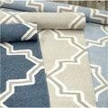 nuLOOM Handmade Flatweave Marrakesh Lattice Wool Rug (7'6 x 9'6)