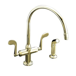 Kohler Essex Kitchen Sink Faucet with Wristblade Handles and Sidespray