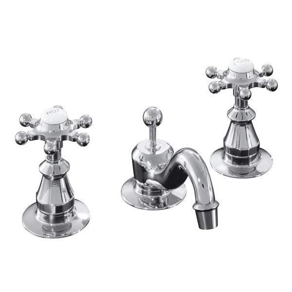 Kohler Antique Widespread Lavatory 6-prong Handle Faucet