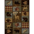 Natural Multi Lodge Area Rug (7'10 x 10' 3)