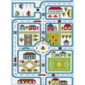 Fun White Area Rug (2'7 x 4'1)