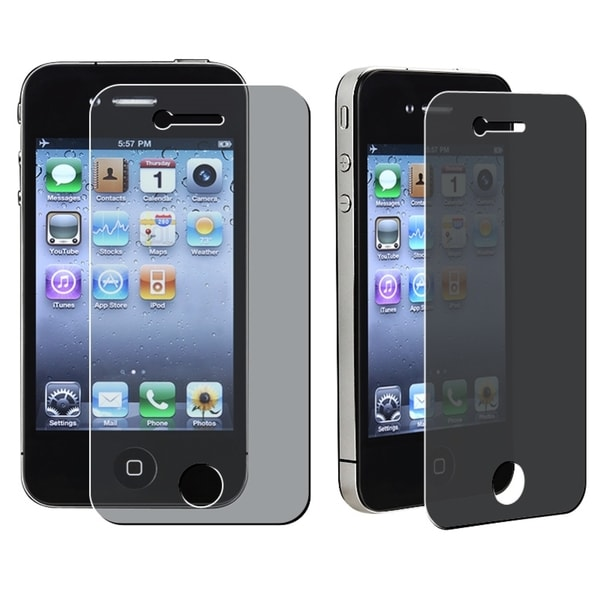 INSTEN Privacy Filter Screen Protector for Apple iPhone 4/ 4S (Pack of 3)
