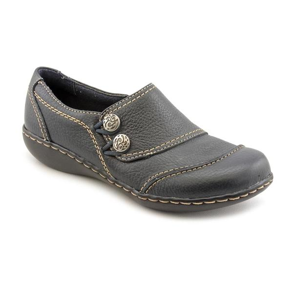 Clarks Women's 'Ashland Alpine' Navy Blue Leather Casual Shoes