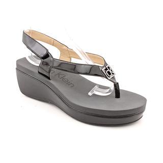 Calvin Klein Women's 'Wyomi Two Tone' Patent Sandals