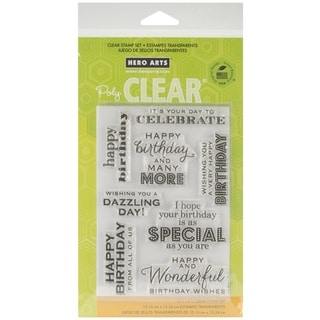 """Hero Arts Clear Stamps 4""""x6"""" Sheet-Birthday Wishes"""
