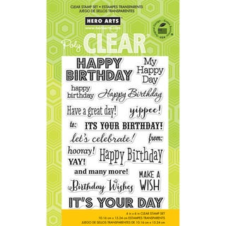 "Hero Arts Clear Stamps 4""x6"" Sheet-It's Your Day"