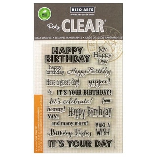 """Hero Arts Clear Stamps 4""""x6"""" Sheet-It's Your Day"""
