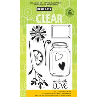 "Hero Arts Clear Stamps 4""x6"" Sheet-Love Jar"