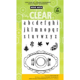 "Hero Arts Clear Stamps 4""x6"" Sheet-Placecard & Alphabet"