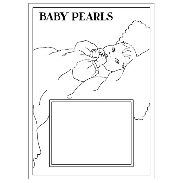"Pink Persimmon Clear Stamp 3""X4"" Sheet-Baby Pearls"