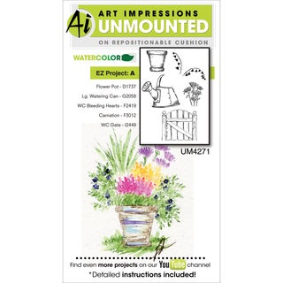 Art Impressions Watercolor Cling Rubber Stamp-EZ Project A