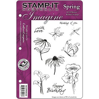 "Stamp-It EZMount Cling Mini Binder Set 5.5""X8.5""-Spring"