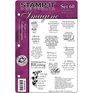 "Stamp-It EZMount Cling Mini Binder Set 5.5""X8.5""-Set 60"