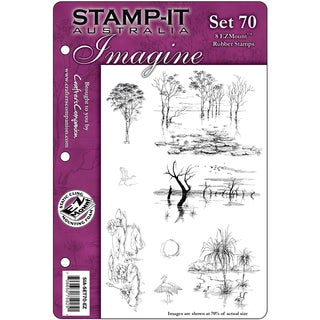 "Stamp-It EZMount Cling Mini Binder Set 5.5""X8.5""-Set 70"