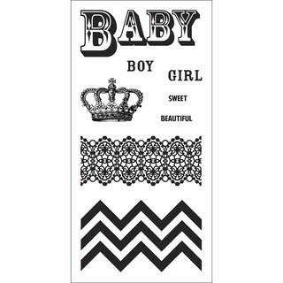 "Fiskars Teresa Collins 3""X6"" Sheet Cling Stamps-Baby"